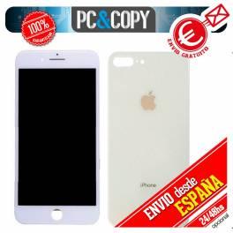 Pantalla completa LCD + Tapa bateria iPhone 8 Plus 5,5 blanca Calidad testeada