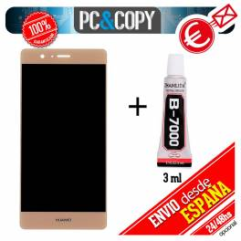 Pantalla DORADA LCD original + adhesivo Huawei P9 Lite VNS-L21 L22 L23 L31 L53