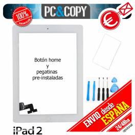 Pantalla táctil ipad 2 blanca con marco, adhesivo y herramientas Touch screen A+