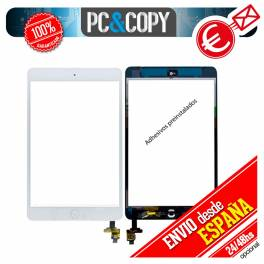 PANTALLA TACTIL IPAD MINI BLANCO CON BOTON HOME+IC CHIP+ ADHESIVO Y HERRAMIENTAS