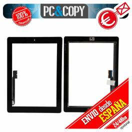 PANTALLA TACTIL IPAD 3 NEGRA CON ADHESIVO + BOTON HOME DIGITALIZADOR GEN CRISTAL TOUCH SCREEN iPad3