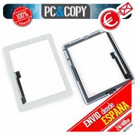 Pantalla tactil iPad 3 4 blanco con boton home, adhesivos preins y herramientas
