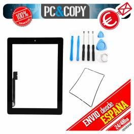 Pantalla táctil ipad 3 negra con marco, adhesivo y herramientas Touch screen New