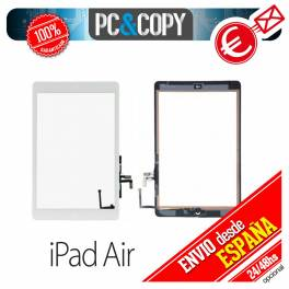 PANTALLA TACTIL IPAD AIR BLANCA TOUCH SCREEN iPadAir + ADHESIVO Y BOTON HOME