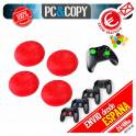 4 Fundas tapas Rojo silicona joystick mando PS3 PS4 Playstation XBOX tapon palancas