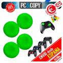 4 Fundas tapas Verde silicona joystick mando PS3 PS4 Playstation XBOX tapon palancas