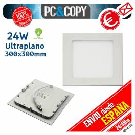 Downlight Panel LED 24W Techo Luz Blanca Cuadrada Fina Empotrable