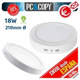Plafon Techo Downlight Panel LED Superficie 18W Luz Blanca Redonda 110mm