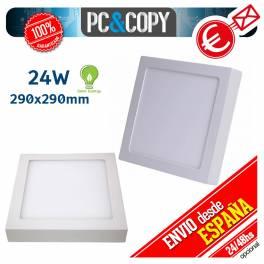 Plafon Techo Panel LED Superficie 24W Luz Blanca Cuadrado 290mm Downlight