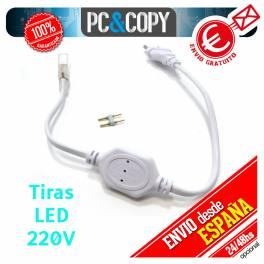 Cable Rectificador para Tiras LED de 220V 2 pines Adaptador Enchufe IP65
