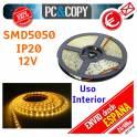 5M Tiras LED Blanco Calido 12v IP20 Flexible Interior SMD5050