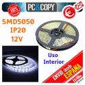 5M Tira LED Blanca 12v 5050 14.4W/metro Luz Interior Luces Flexible SMD5050