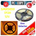 5M Tira LED Amarillo 12v IP20 Luz Interior Cinta Flexible SMD5050