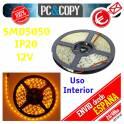 5M Tira LED Amarillo 12v IP20 Luz Interior Cinta Flexible SMD5050