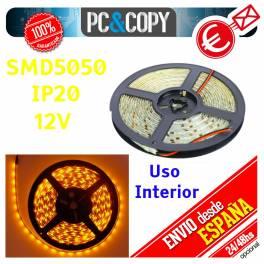 Tiras LED de color Azul 12v 5m IP20 Luz Interior Luces Cinta Flexible SMD5050