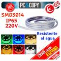 Tiras LED color RGB 220V 1m IP65 Impermeable Luces Cinta Flexible SMD5050