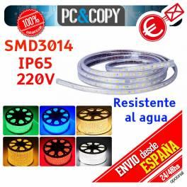 Tiras LED color RGB 220V 1m IP65 Impermeable Luces Cinta Flexible SMD3014