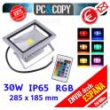 Foco Proyector LED RGB 30W Luz Reflector Lampara Exterior IP65 Impermeable