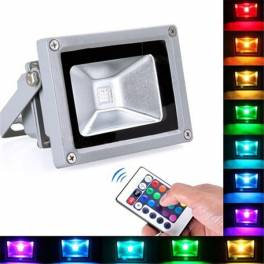 Foco Proyector LED RGB 10W Luz Reflector Lampara Exterior IP65 Impermeable
