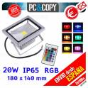 Foco Proyector LED RGB 20W Luz Reflector Lampara Exterior IP65 Impermeable