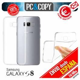 Funda gel TPU flexible 100% transparente para SAMSUNG Galaxy S8 SM-G950F SM-G950FD