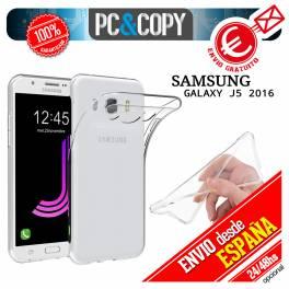 Funda gel TPU flexible 100% transparente SAMSUNG Galaxy J5 2016 trasera