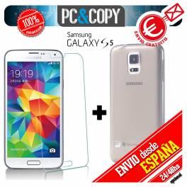 Funda gel TPU flexible 100% transparente para SAMSUNG Galaxy S5
