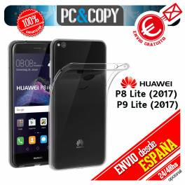 Funda gel TPU flexible 100% transparente HUAWEI P8 Lite 2017 P9 Lite 2017