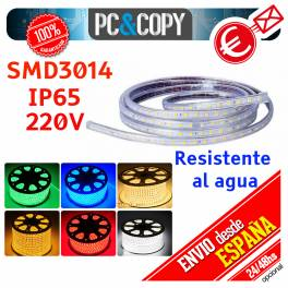 Tiras de LED 220V IP65 Impermeable Luces Cinta Flexible SMD3014 14.4W por metro