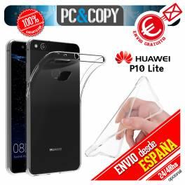 Funda gel TPU flexible 100% transparente HUAWEI P10 Lite ultrafina ligera