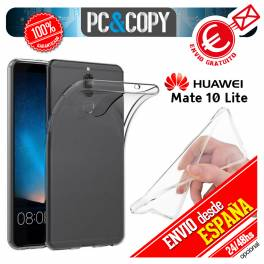 Funda gel TPU flexible 100% transparente HUAWEI Mate 10 Lite Nova 2i Honor 9i