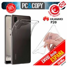 Funda gel TPU flexible 100% transparente HUAWEI P20 ultrafina ligera