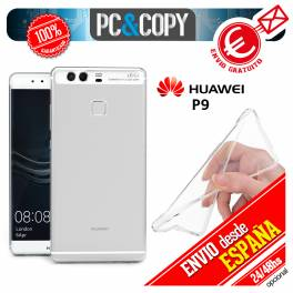 Funda gel TPU flexible 100% transparente HUAWEI P9