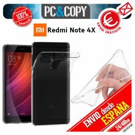Funda gel TPU flexible 100% transparente para XIAOMI Redmi Note 4X ultrafina
