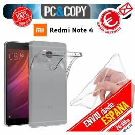 Funda gel TPU flexible 100% transparente para XIAOMI Redmi Note 4 ultrafina