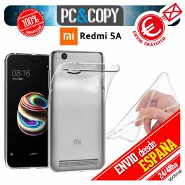 Funda gel TPU flexible 100% transparente XIAOMI Redmi 5A ultrafina silicona