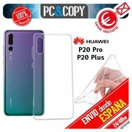 Funda gel TPU flexible 100% transparente HUAWEI P20 Pro P20 Plus ultrafina