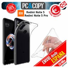 Funda gel TPU flexible 100% transparente XIAOMI Redmi Note 5 / Note 5 Pro
