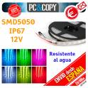 5 Metros Tiras LED RGB 12V 5m IP67 Resistentes al Agua Luces cinta Flexible Colores