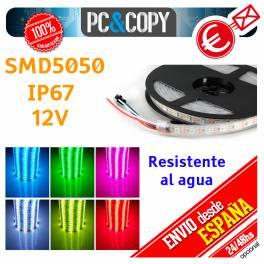 Tiras LED de color RGB 220V 5m IP67 Sumergible en Agua Luces cinta Flexible