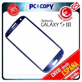 CRISTAL PANTALLA PARA SAMSUNG GALAXY S3 i9300 TOUCH SCREEN LCD AZUL ORIGINAL