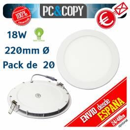 Downlight Panel LED 18W Techo Luz Blanca Redonda Fina Empotrable
