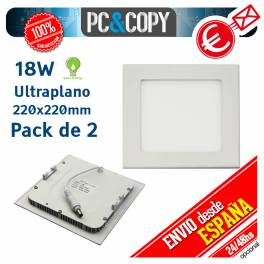 Downlight Panel LED 18W Techo Luz Blanca Cuadrada Fina Empotrabl