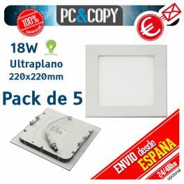 Downlight Panel LED 18W Techo Luz Blanca Cuadrada Fina Empotrabl