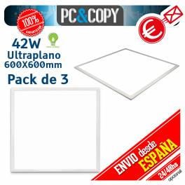 Panel LED 42W 600X600mm Ultraplano Luz Blanca Empotrable
