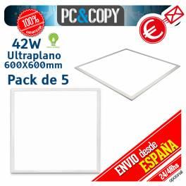 Panel LED 42W 600X600mm Ultraplano Luz Blanca Empotrable