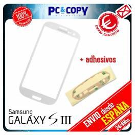 CRISTAL DE PANTALLA TACTIL PARA SAMSUNG GALAXY S3 i9300 TOUCH SCREEN BLANCO LCD + ADHESIVOS