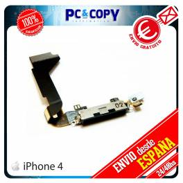 CABLE FLEX DOCK CONECTOR DATOS IPHONE 4 4G NEGRO CARGA MICROFONO RECAMBIO IPHONE4 USB