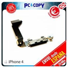 CABLE FLEX DOCK CONECTOR DATOS IPHONE 4 4G NEGRO CARGA MICROFONO RECAMBIO IPHONE4 USB