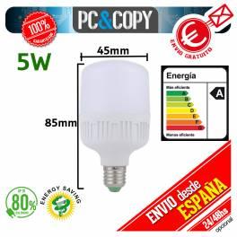 Bombilla LED E27 B22 5W Luz Blanca 6500K Bajo Consumo Alto Brillo